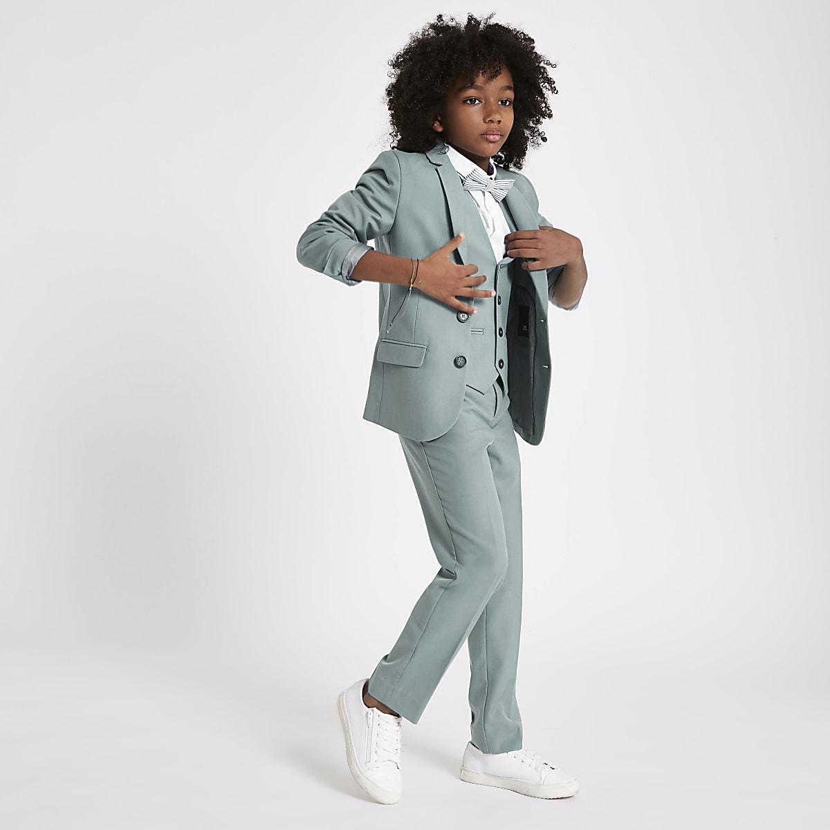 Gilet de costume vert sauge pour garçon