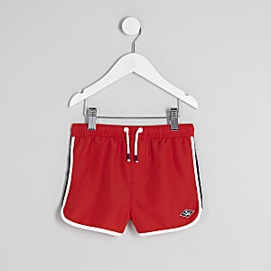 Short de bain de sport rouge mini garçon