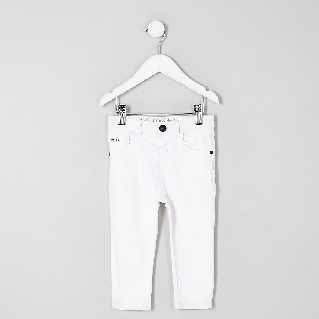 Mini - Sid - Witte skinny jeans voor jongens