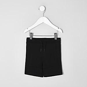 Mini boys black pique shorts