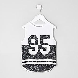 Débardeur « 95 » à imprimé camouflage blanc mini garçon