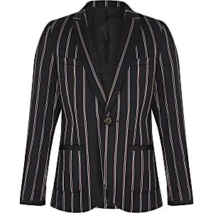 Boys navy stripe blazer