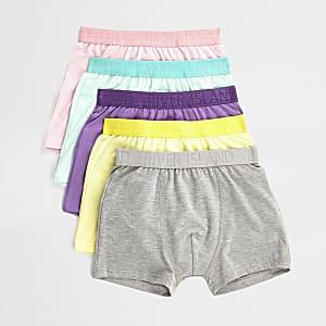 Multipack pastelgele boxershorts voor jongens