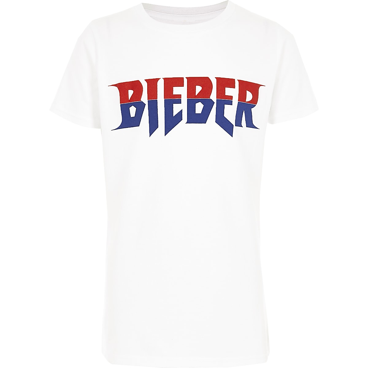 Boys white 'Bieber' tour T-shirt