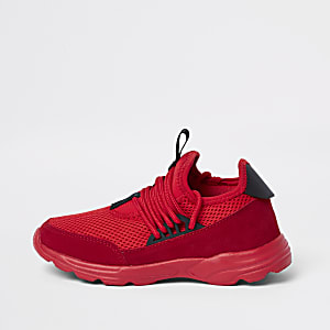 Kids red runner sneakers