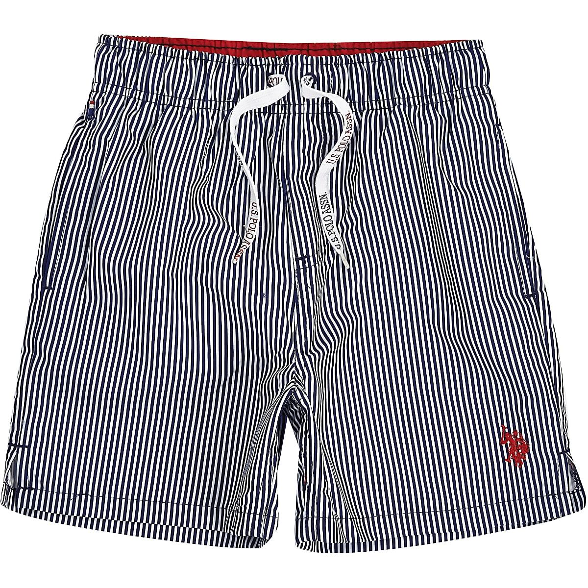 Boys navy U.S. Polo Assn. swim shorts