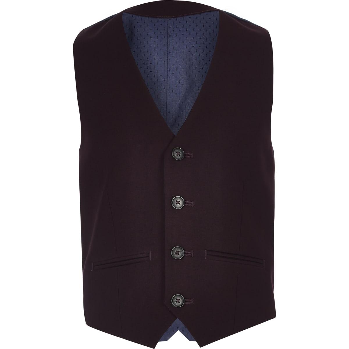 Boys purple suit vest