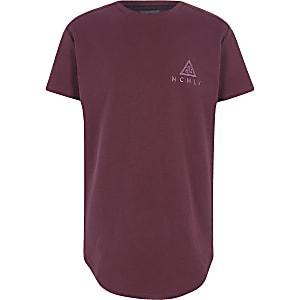 Concept – Bordeauxrotes T-Shirt mit Logo
