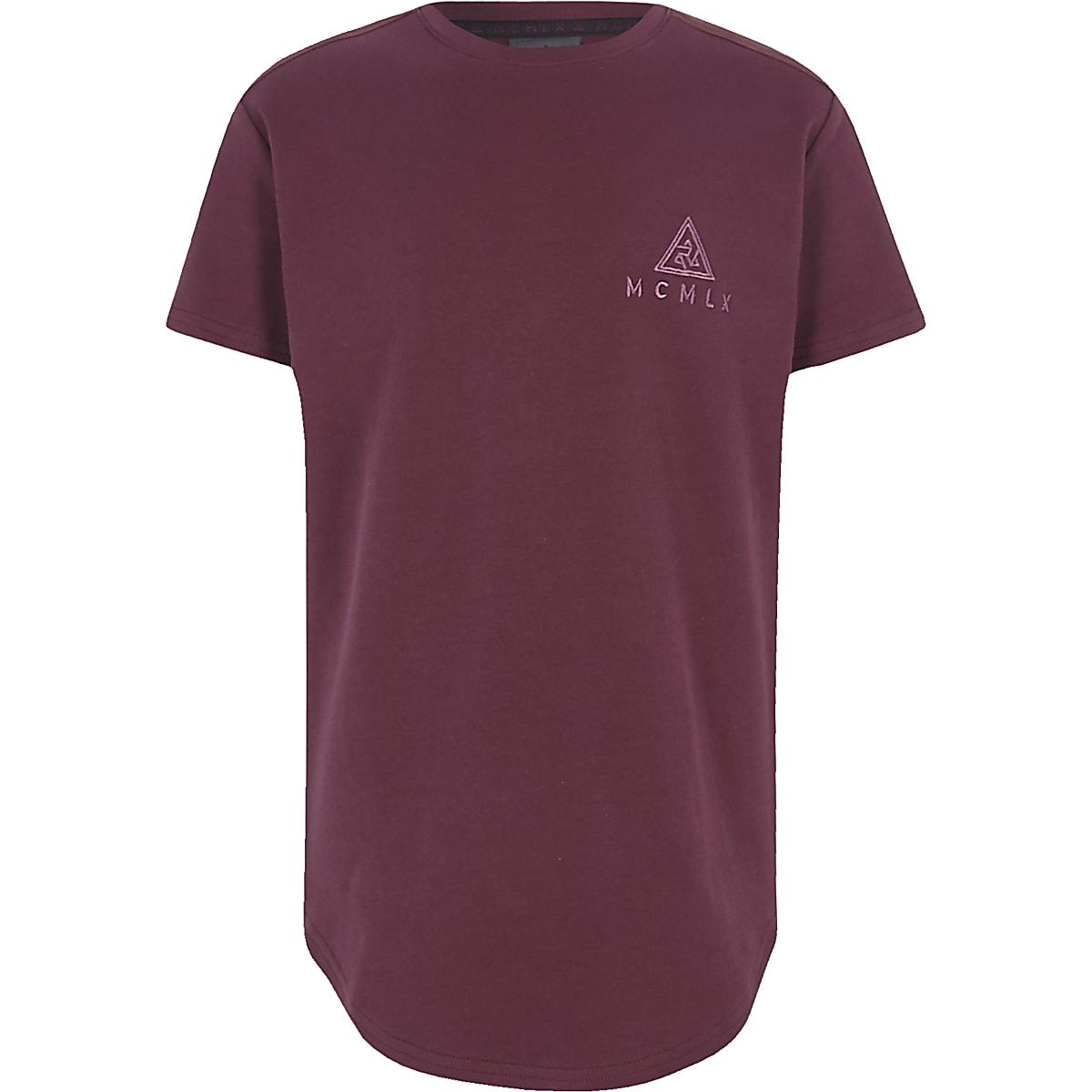 Boys burgundy Concept logo T-shirt