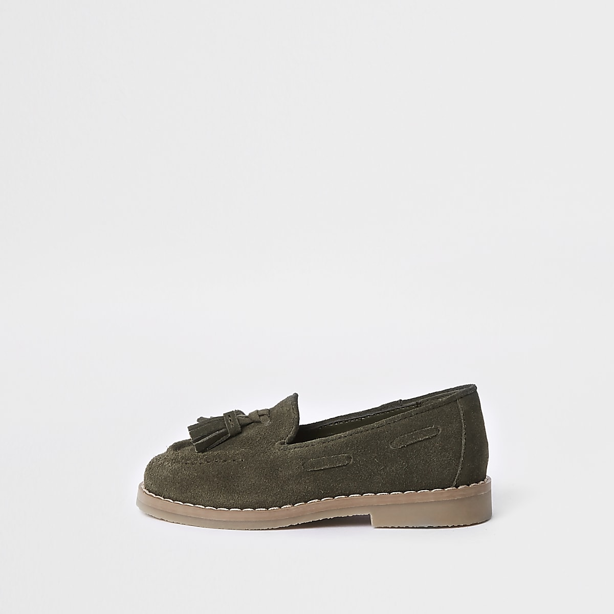 Mini boys khaki tassel loafers