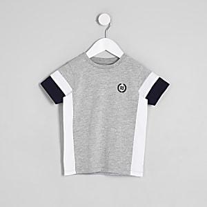 Graues T-Shirt in Blockfarben