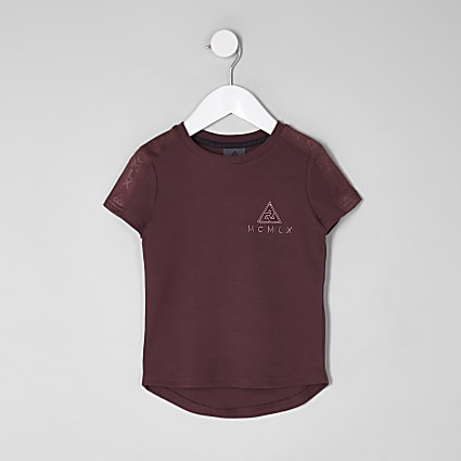 Mini boys red Concept  tape T-shirt