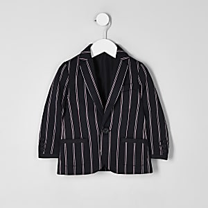 Mini boys navy stripe blazer