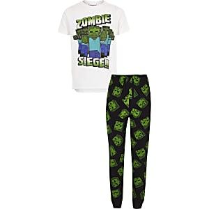 Pyjamaset met Minecraft-print voor jongens