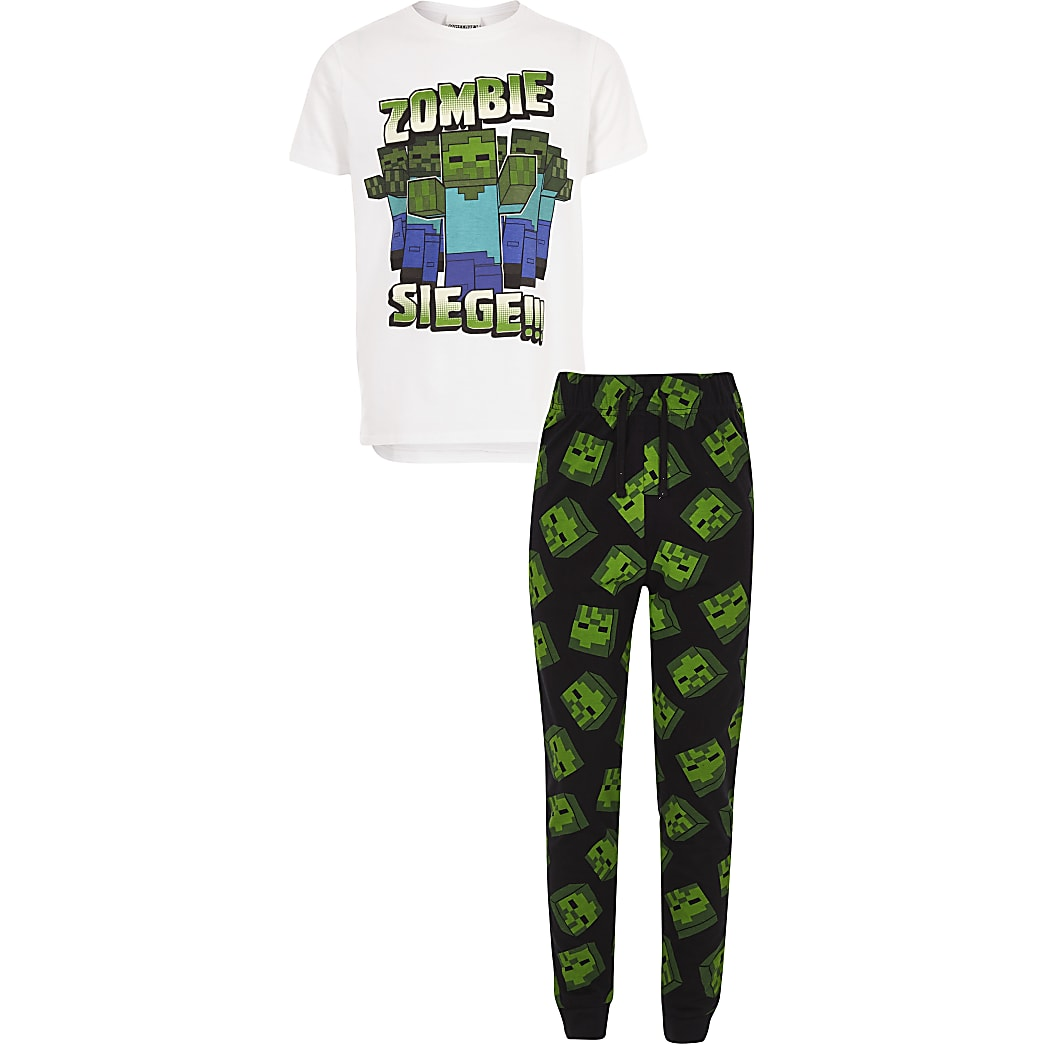 Boys Minecraft print pyjama set