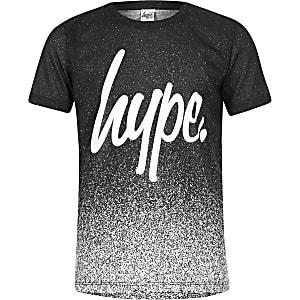 Hype - Zwart gespikkeld T-shirt voor jongens