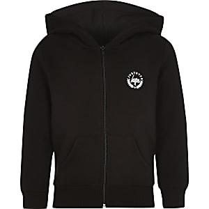Boys Hype black rose thorn hoodie