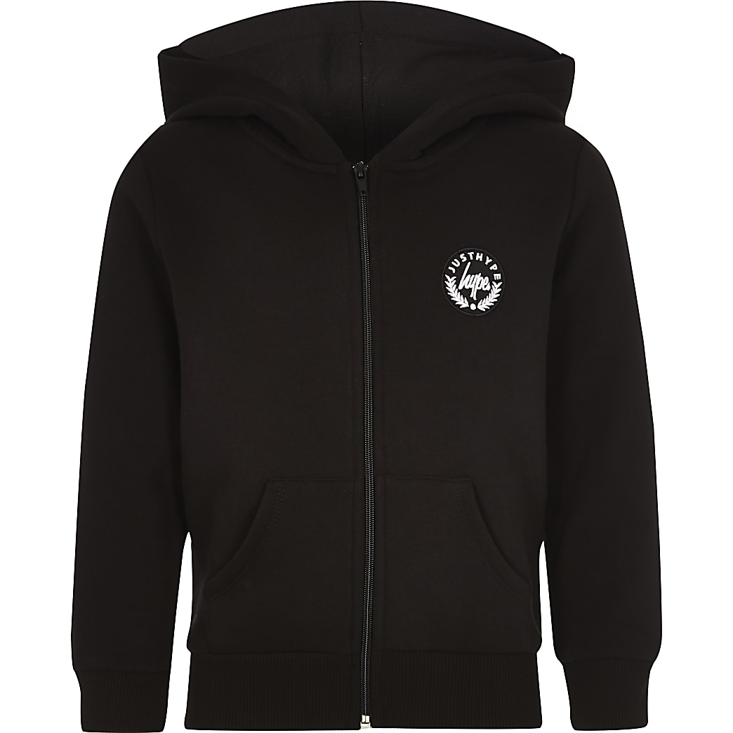 Boys Hype black rose thorn hoodie