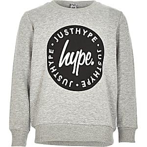 Hype – Graues Sweatshirt mit Rundhalsausschnitt