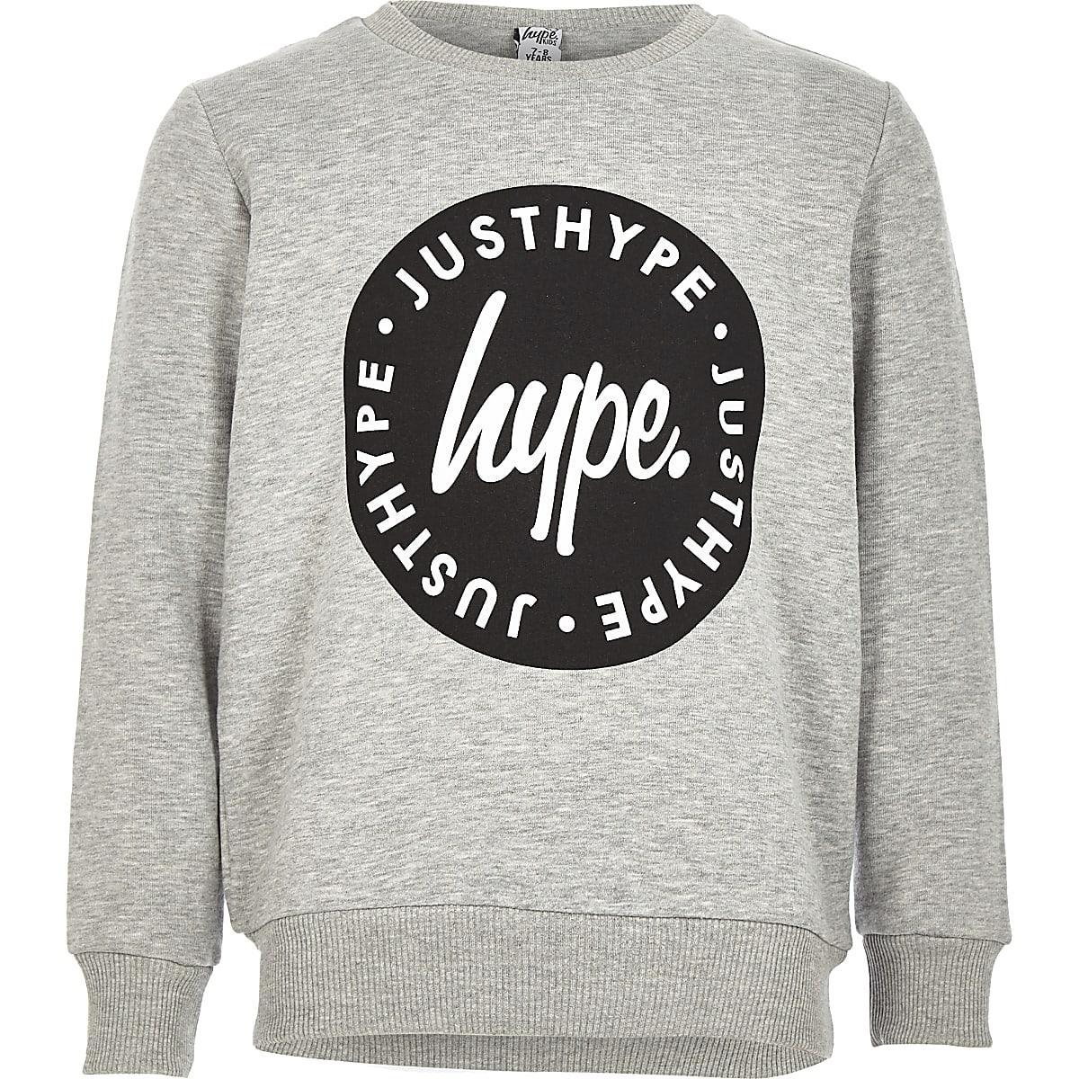 Hype - Grijs sweatshirt met ronde hals voor jongens