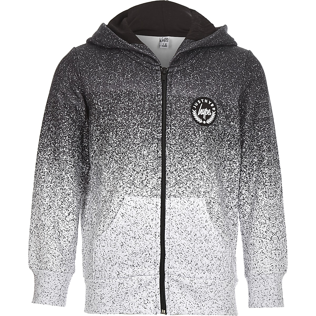 0a3ed8658366 Boys Hype grey speckled zip front hoodie - Hoodies   Sweatshirts - boys