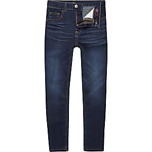 Danny - Donkerblauwe superskinny jeans voor jongens