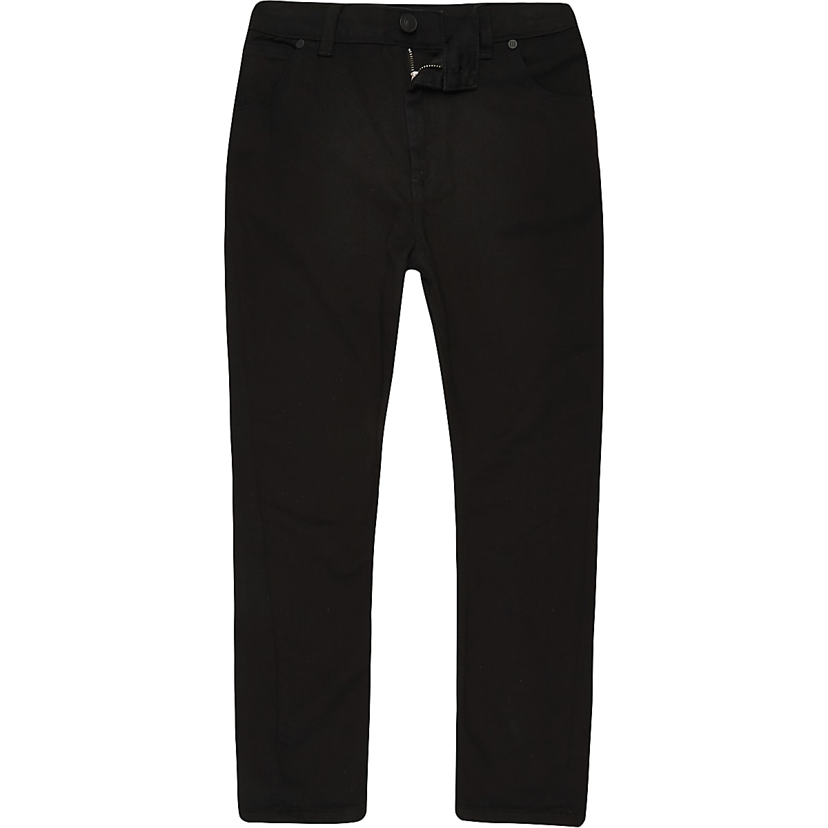 Boys black Tony tapered slouch jeans
