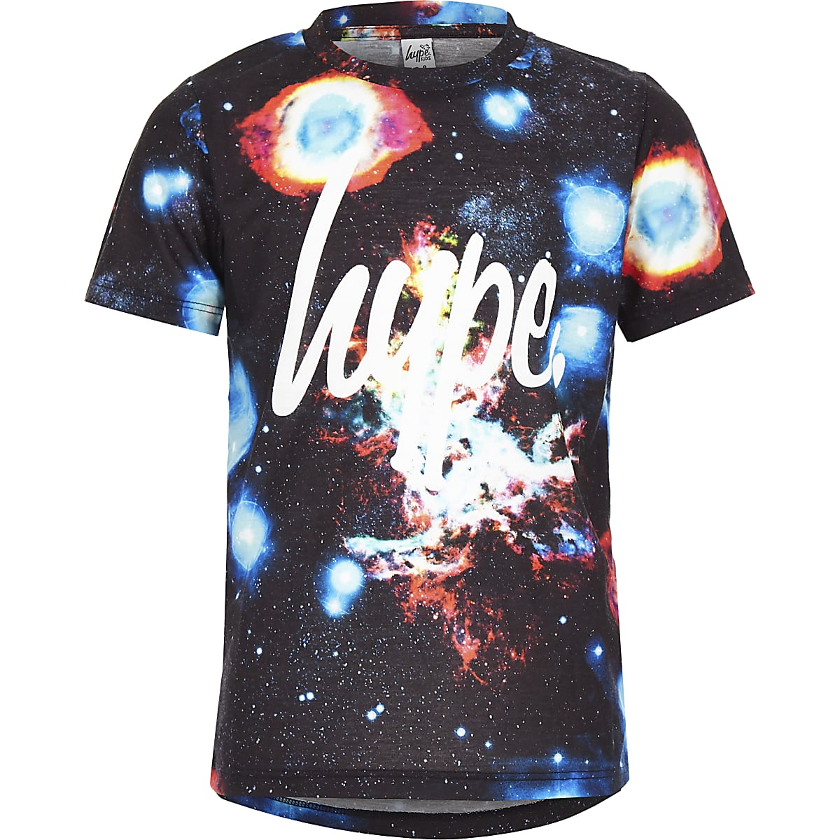 Boys Hype navy space T-shirt
