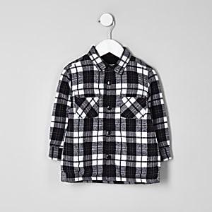 Veste chemise à carreaux à manches longues mini garçon