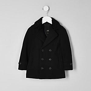 RI 30 mini boys black double breasted coat