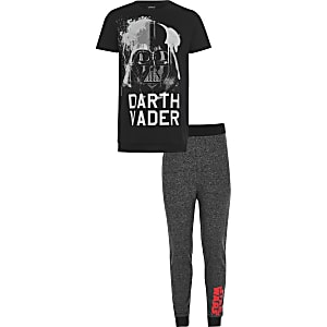 Boys black Star Wars pyjama set