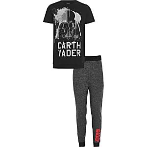 Schwarzer Star-Wars-Pyjama