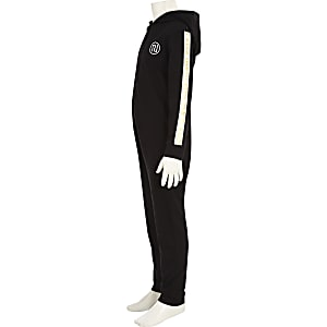 Boys black RI tape onesie