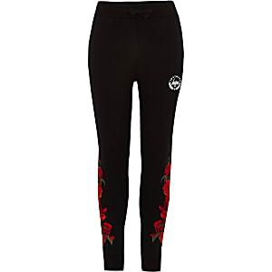 Hype – Pantalon de jogging imprimé épines de roses noires pour garçon