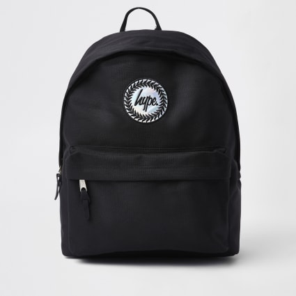 Boys black Hype hologram logo backpack