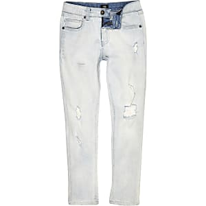 Sid - Lichtblauwe wash ripped skinny jeans