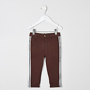Mini boys red tape chino pants