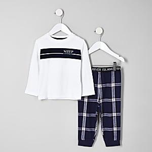Pyjama avec haut « All weekend » blanc mini garçon