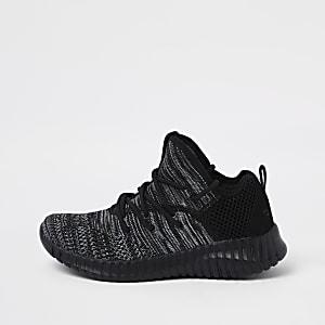 Skechers – Schwarze Sneaker aus Mesh
