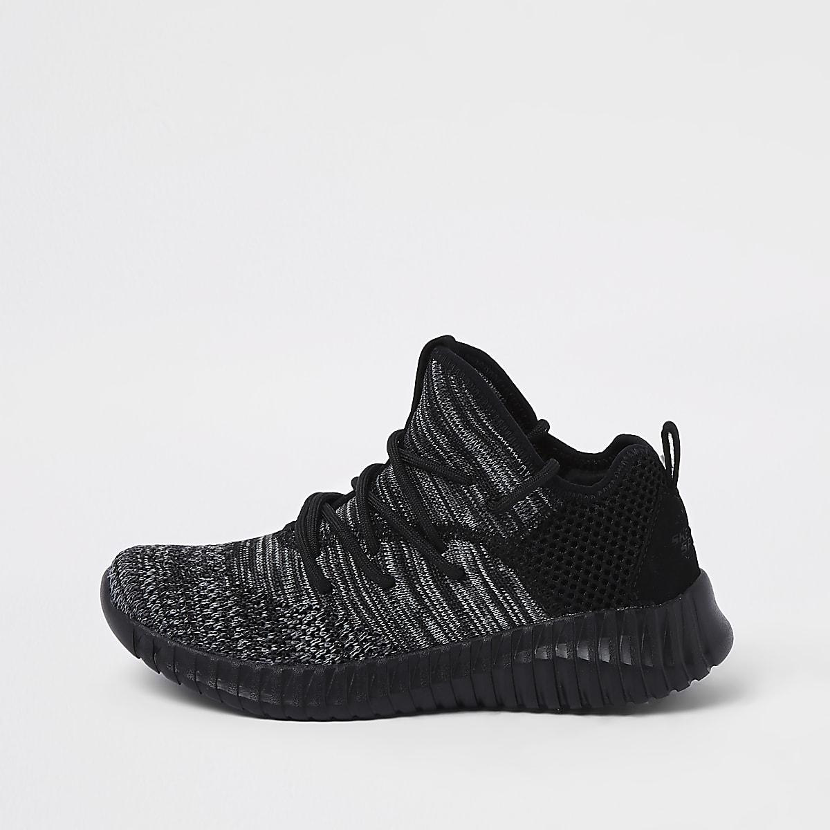 Skechers – Baskets de course en maille noires pour garçon