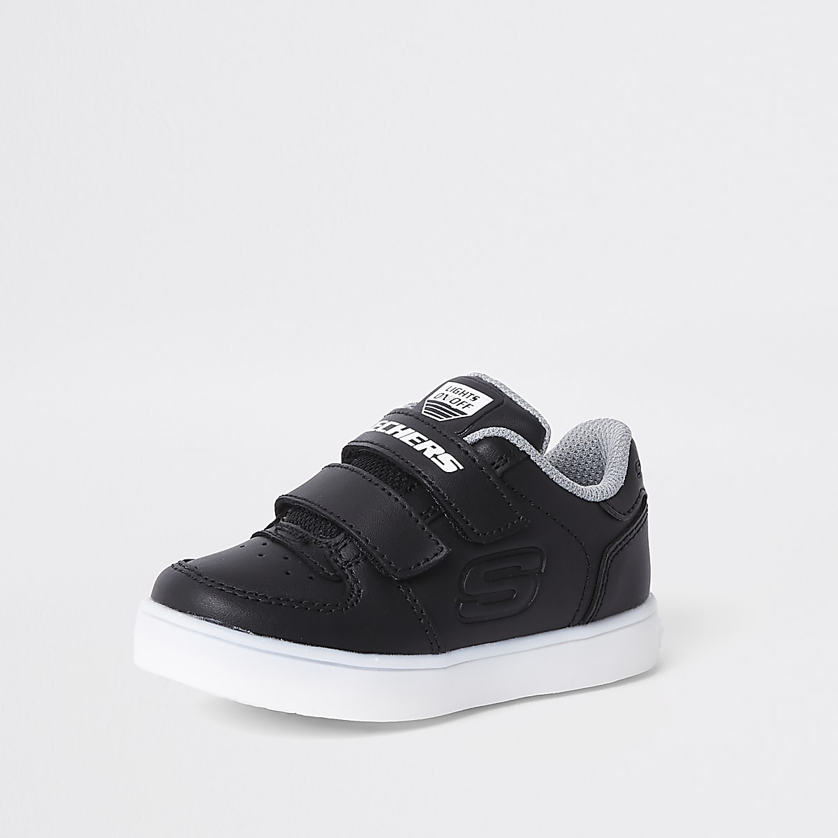 53440d355 Mini boys Skechers black light-up trainers - Baby Boys Trainers ...