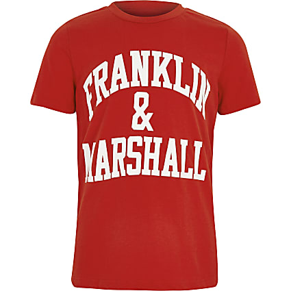 Boys Franklin & Marshall red print T-shirt