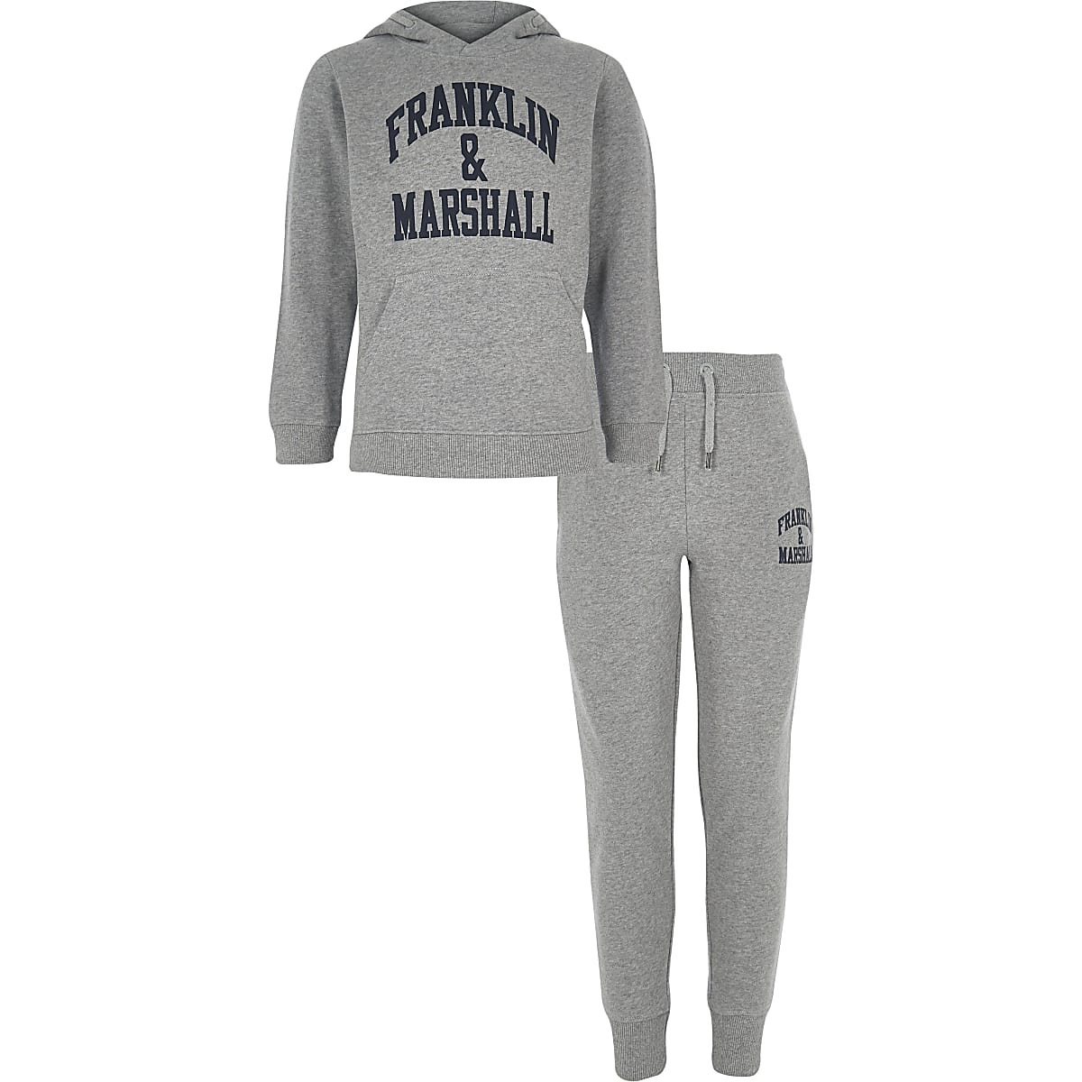 Boys Franklin & Marshall grey hoodie outfit