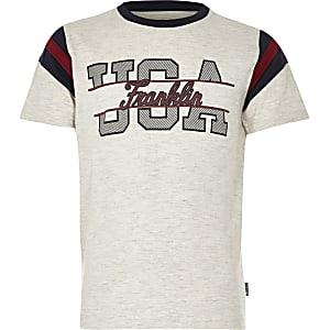 Franklin & Marshall – T-shirt USA chiné pour garçon