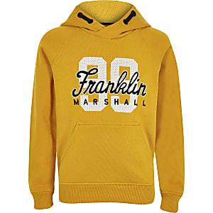 Boys Franklin & Marshall yellow '99' hoodie