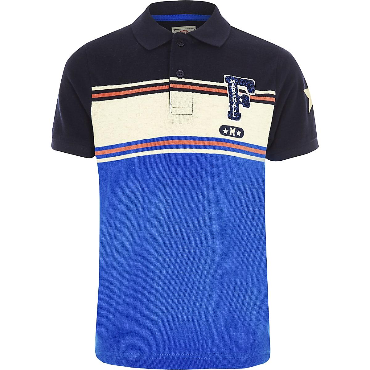 Boys Franklin & Marshall blue polo shirt