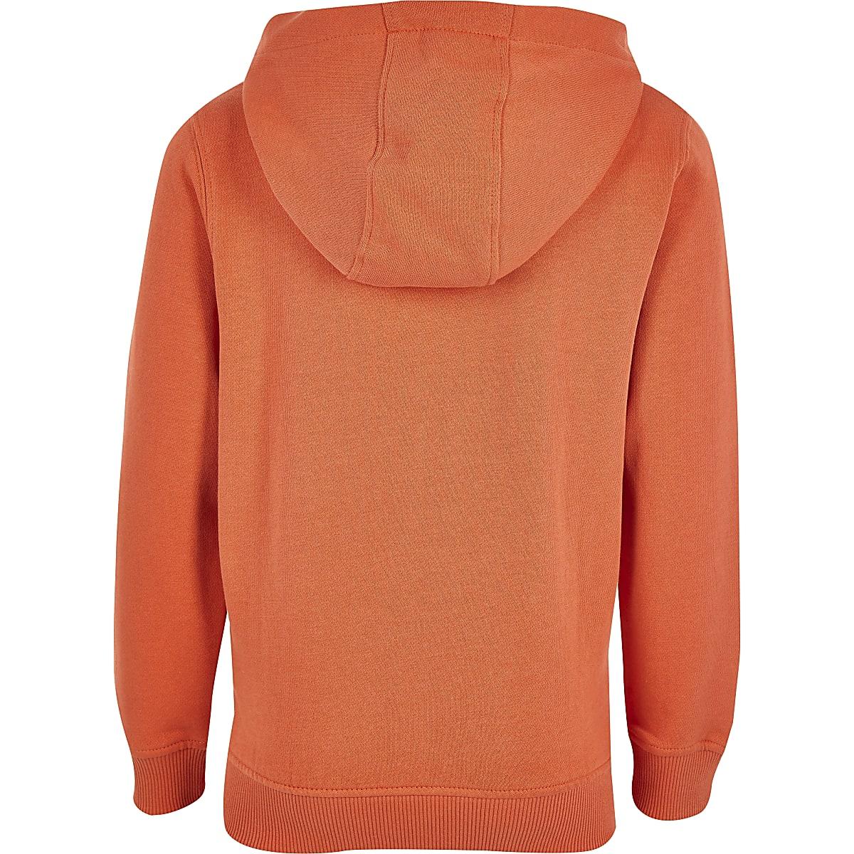 9faa4a581c9d Boys Franklin   Marshall orange zip hoodie - Hoodies   Sweatshirts - boys
