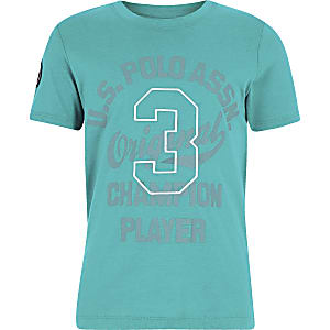 Boys U.S. Polo Assn. blue T-shirt
