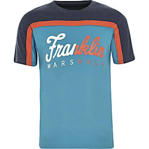 Franklin & Marshall - Blauw T-shirt voor jongens