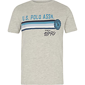 Boys grey U.S. Polo Assn. print T-shirt